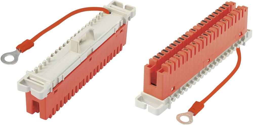LSA-ozemljitveni modul vklj. z ozemljitvenim kablom 85 mm 10 dvojno-doziran rdeče barve vsebuje: 1 kos