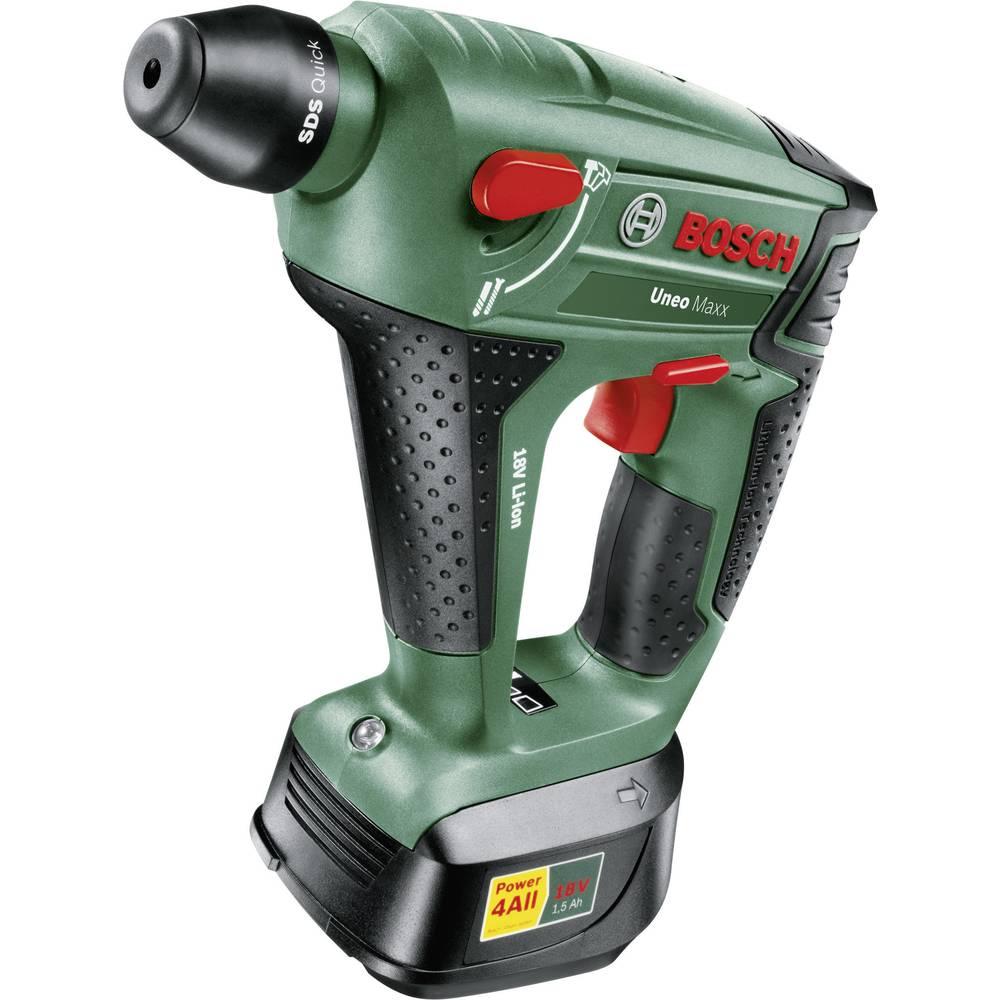 Bosch Uneo Maxx SDS-Quick-Cordless hammer drill 18 V 2.0 Ah Li-ion +  rechargeables, ...
