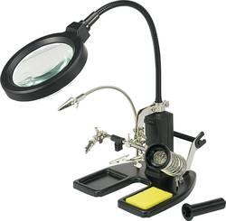 TOOLCRAFT LED-lampe med forstørrelsesglas og tredje hånd