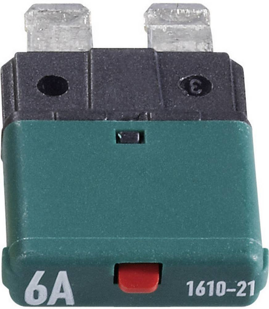 Sikringsautomat Standard Fladsikring 6 A Mørkegrøn 1610 CE1610-21-6A 1 stk