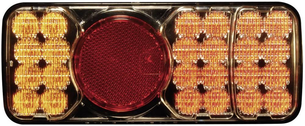 Zadnja LED luč za priklopnike, zavorna luč, luč za vzvratno vožnjo, smernik, odsevnik, rdeča, oranžna, rumena 12 V, 24 V