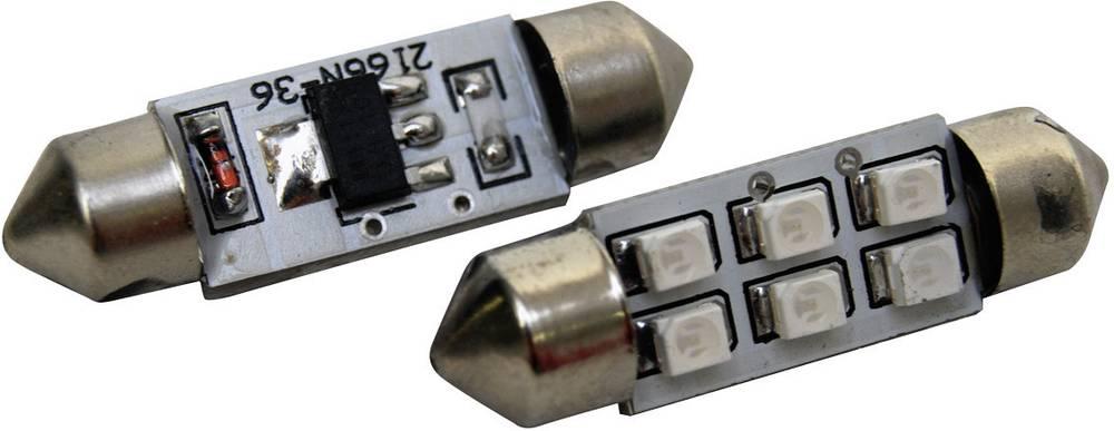 Eufab SMD-LED sofitna žarnica s 6 LED sofitna žarnica S8.5 modra (Ø x D) 10 mm x 36 mm