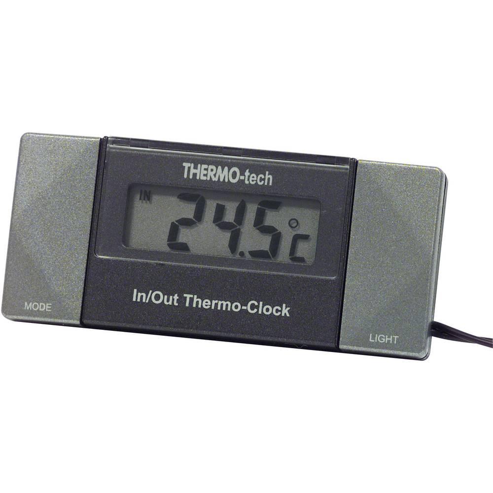 Termometer Kabelsensor, Fod, Indendørs temperatur, Udetemperatur, 12 h-display 4518 Herbert Richter -50 til +70 °C