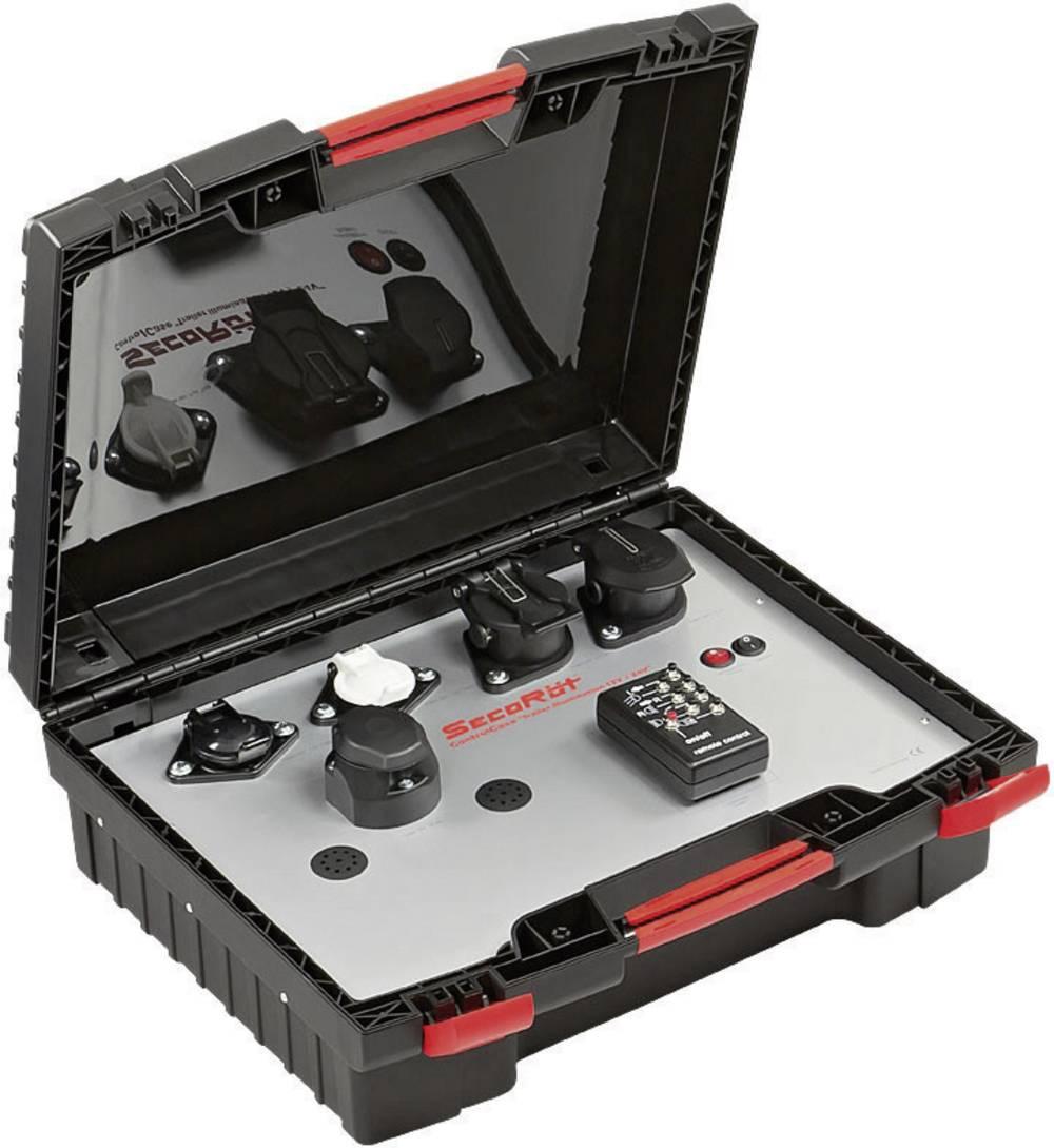 Kovček z brezžično testno opremo SecoRüt za osvetlitev prikolic 12/24 V (2. generacija)