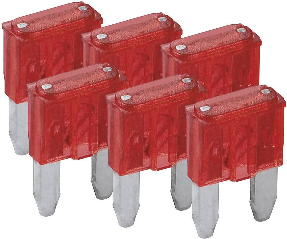 Mini fladsikring 10 A Rød FixPoint SORTIMENT 1027-10A KFZM-Sicherung 6 tlg. 20389 6 stk