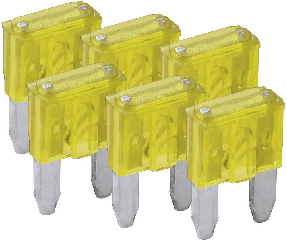 Mini fladsikring 20 A Gul FixPoint SORTIMENT 1027-20A KFZM-Sicherung 6 tlg. 20391 6 stk