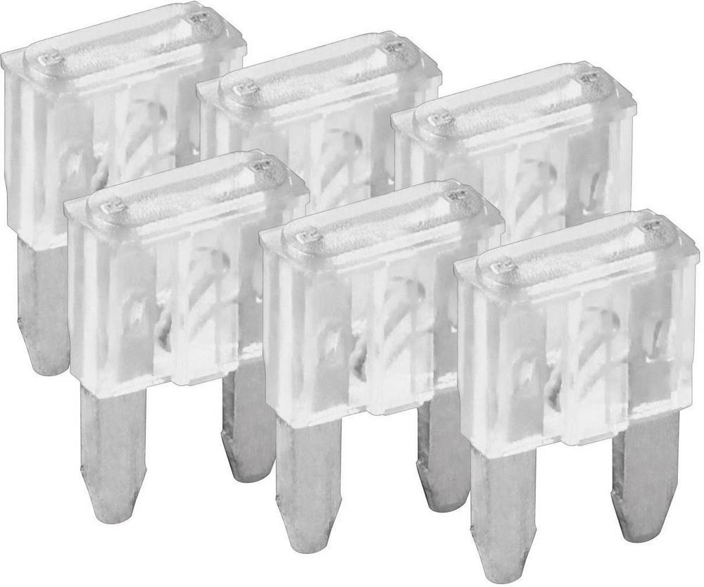 Mini fladsikring 25 A Hvid FixPoint SORTIMENT 1027-25A KFZM-Sicherung 6 tlg. 20392 6 stk