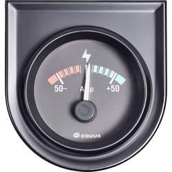 Bil indbygningsinstrument Amperemeter måleområde -50 - +50 A Equus 842052 Standard Gul, Rød, Grøn 52 mm