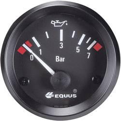 Bil indbygningsinstrument Olietryk-visning måleområde 0 - 7 bar Equus 842095 Standard Gul, Rød, Grøn 52 mm
