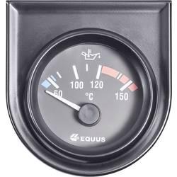 Bil indbygningsinstrument Vand-/olietemperatur-visning måleområde 60 - 160 °C Equus 842109 Standard Gul, Rød, Grøn 52 mm