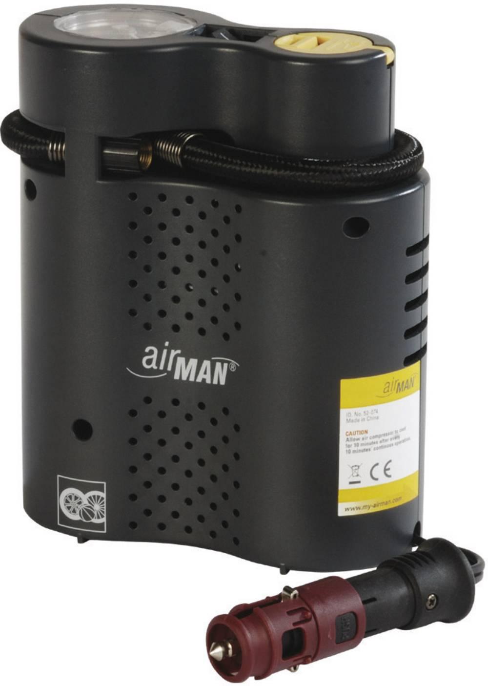 Kompressor 6 bar Airman 52-074-011 Automatisk slukning, Opbevaringskasse/-taske , Ledningsrum/-optagelse, Analog trykmåler