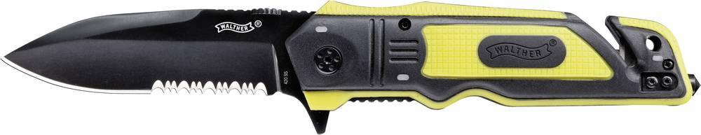 Žepni nož Walther Rescue Knife, črne in rumene barve