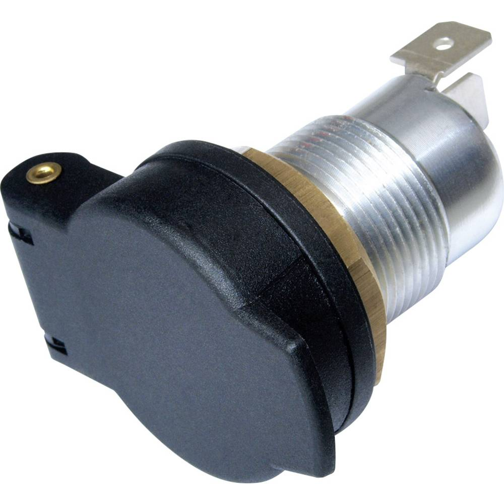 Stikdåse Normstikdåse ProCar Bordspannungs-Einbau-Steckdose, Metall 12/24 V 16 A 6,3 mm fladstik