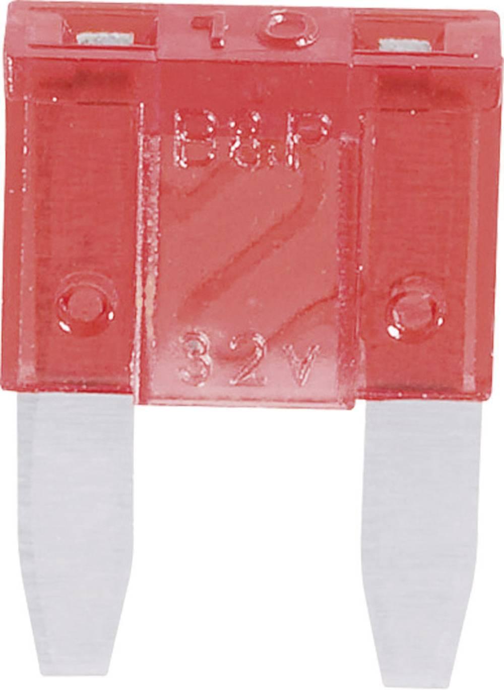 Mini fladsikring 10 A Rød 341.127 330.027 1 stk
