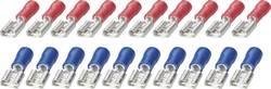 Sæt med fladstikkapper 6,3 mm Fladstikkapper 0.25 do 2.5 mm² Poltal - 20 stk