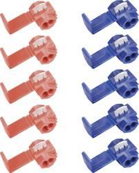 Sæt med klemmeforbindelser 10 dele Klemmeforbindelsesstykker 0,5 do 1,5 mm² Poltal - 10 stk