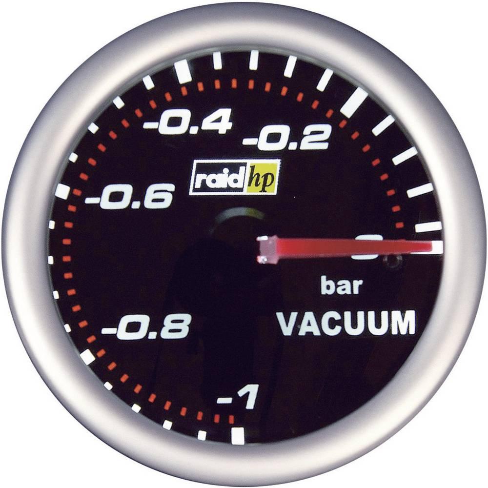 Bil indbygningsinstrument Vakuummeter måleområde -1 - 0 bar raid hp 660240 NightFlight Hvid, Rød 52 mm