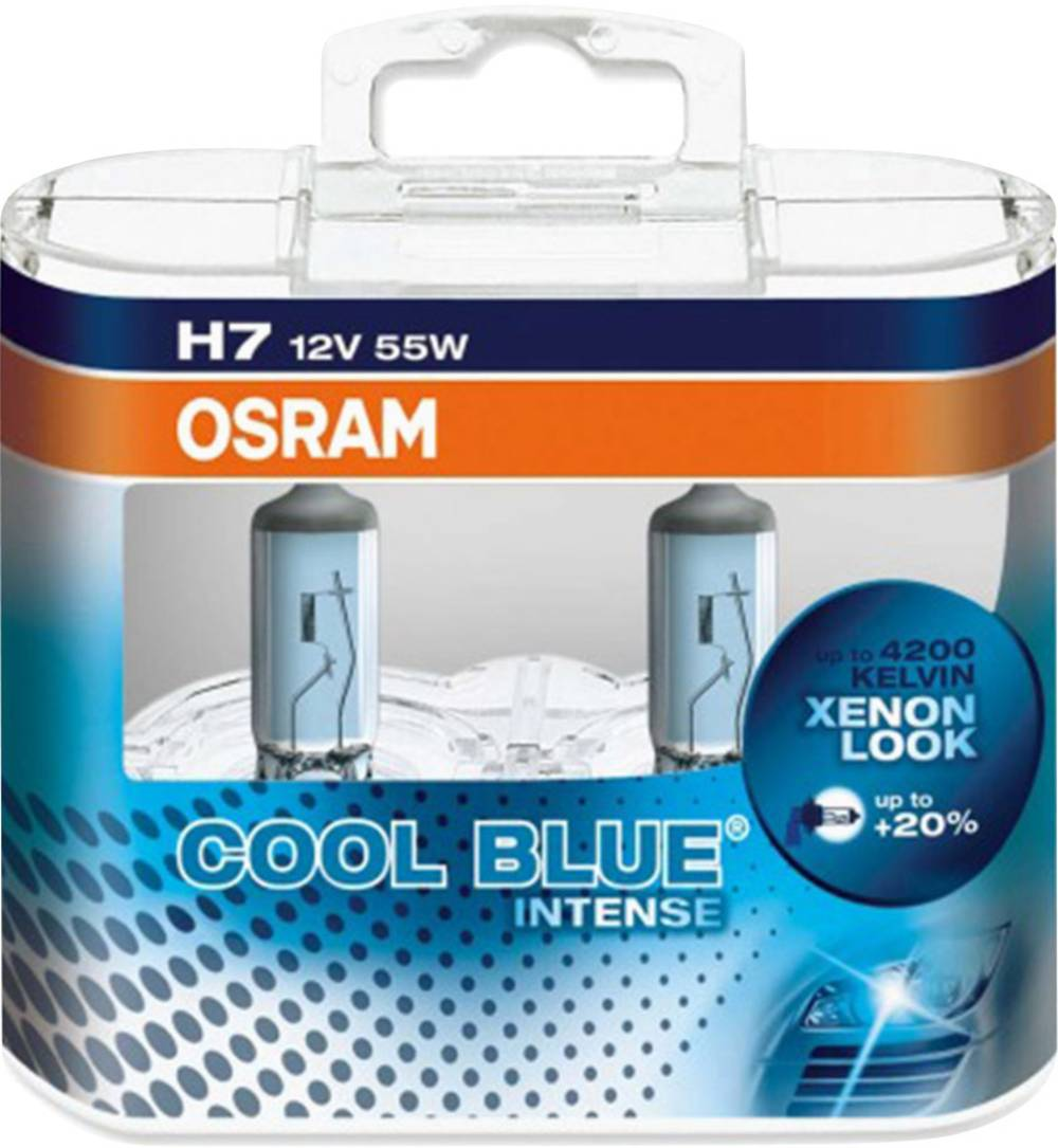 halogen lyskilde OSRAM COOL BLUE® INTENSE H7 55 W