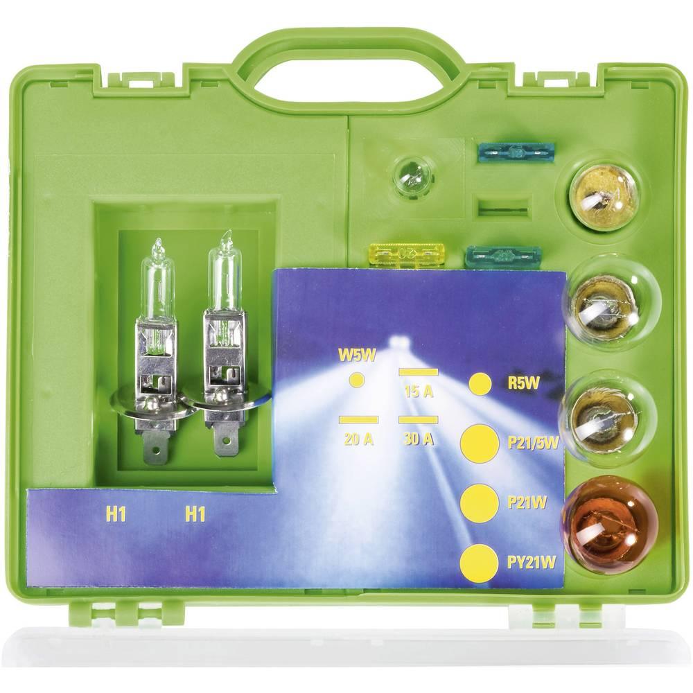 Kovček z nadomestnimi žarnicami Unitec 2 x H1 H 1 73086