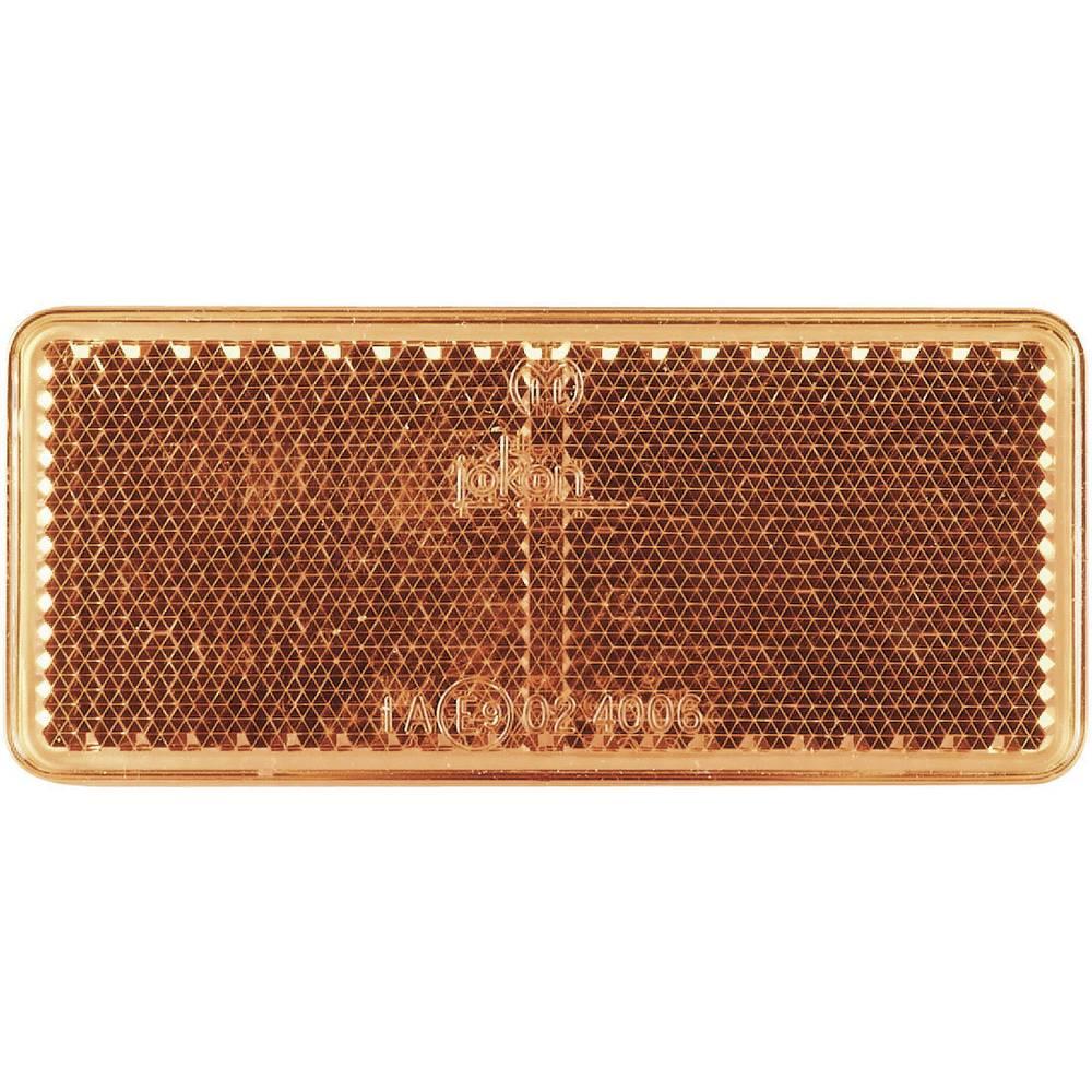 SecoRüt Odsevnik za priklopnike, oranžna (D x Š) 90 mm x 44 mm