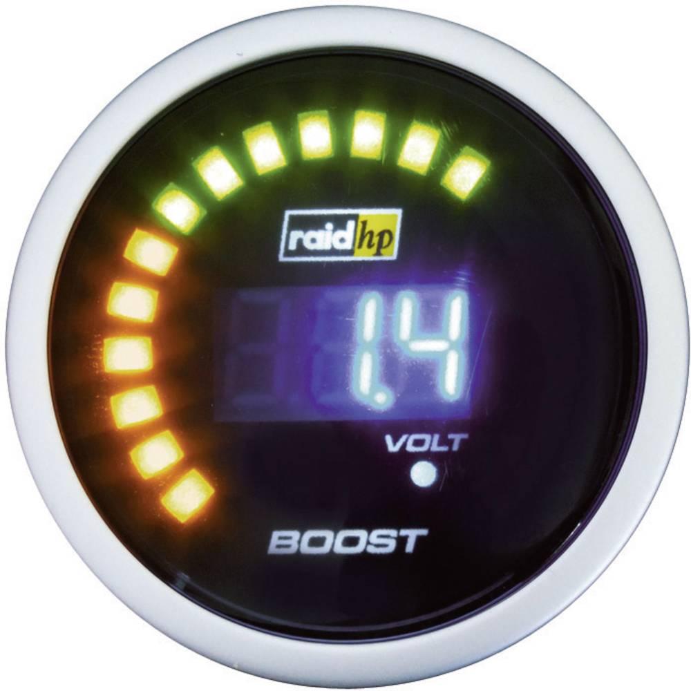 Bil indbygningsinstrument Turbotryk-visning måleområde -1 - 3 bar raid hp 660500 NightFlight Digital Blue Blå, Hvid 52 mm