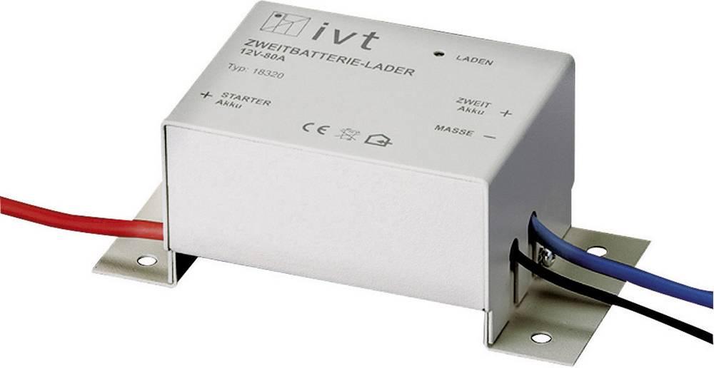 Oplader til ekstra batteri IVT 12/80 18320 12 V