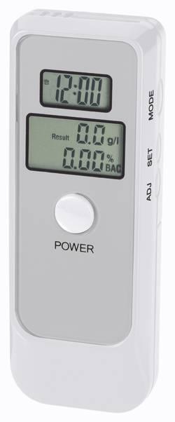 Alkotest 4 u 1 6389ET mjerno područje alkohola (maks.)=1.9 ‰ uklj. zaslon, prikaz različitih jedinica, sat, temperatura,