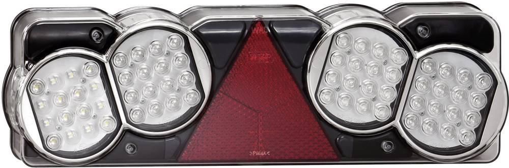 Večfunkcijska LED luč za tovornjake, z zadnjo in zavorno lučjo, žarometom za vzvratno vožnjo in meglo, utripajočo lučjo in triko