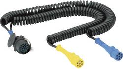 SecoRüt 40510 Spiral 15 Pin Cable With 2x 7 Pin Plug