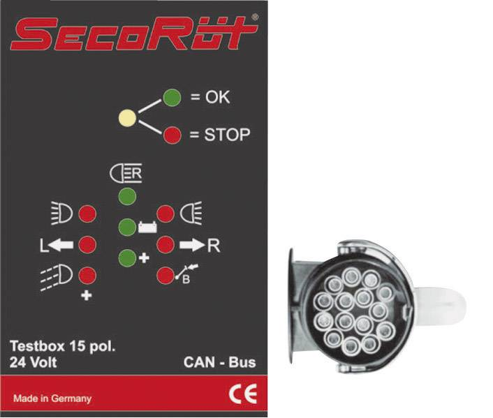 Coach tester 15-pin with plug 12 V, 24 V SecoRüt 40280