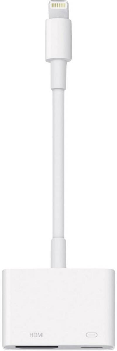 Image of Apple Lightning Digital AV Adapter / Apple iPad/iPhone/iPod AV cable Apple Dock lightning plug HDMI socket