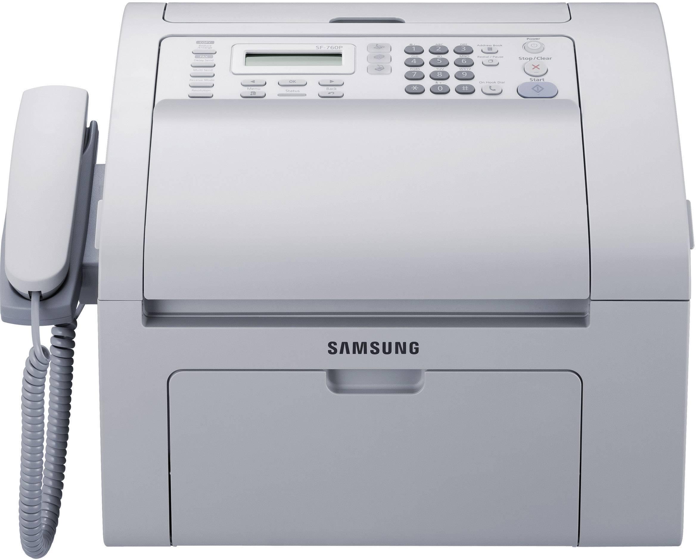 samsung sf 760p laser fax usb 4 in 1 print copy scan fax rh conrad com Samsung Fax Machine Copy Samsung Laser Fax