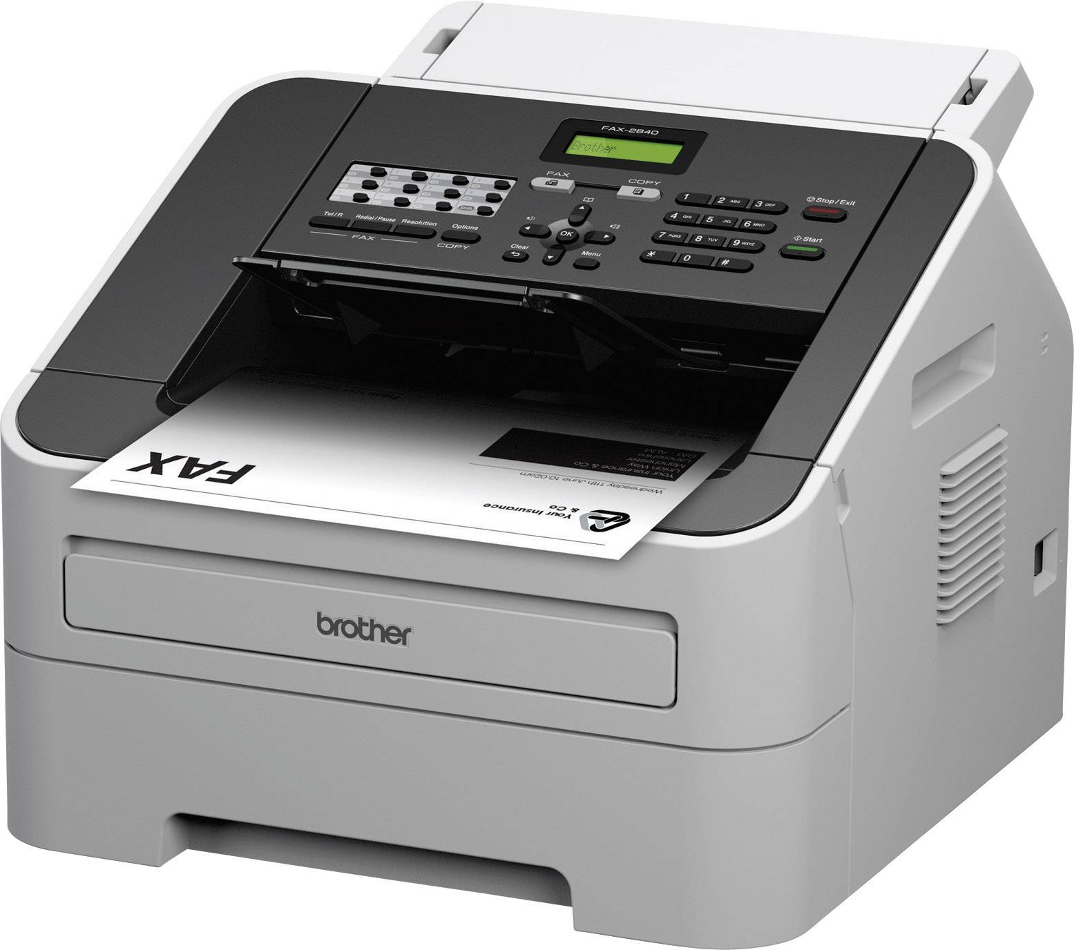 Brother FAX-2840 Laser fax machine Page memory 400 Sides | Conrad.com
