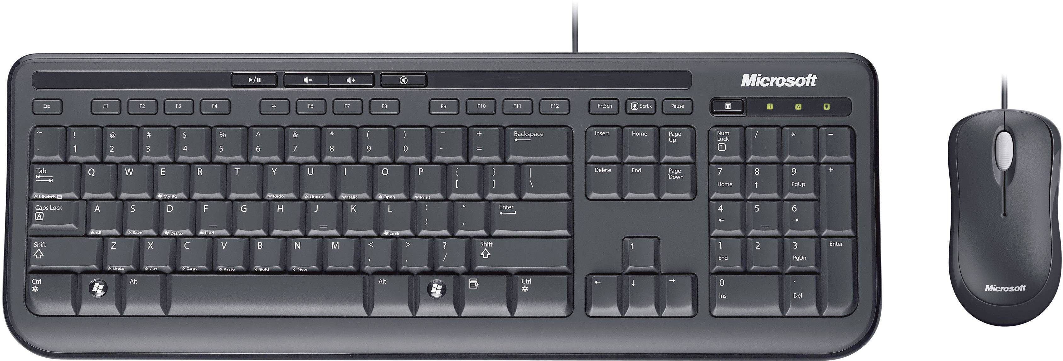 Keyboard And Mouse Corded Combo PC Computer USB Optical Wired Set Office Game US