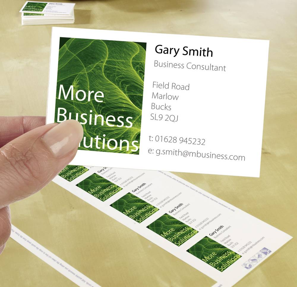 Printable Business Cards Smooth Edge Avery Zweckform C32011 25 A4