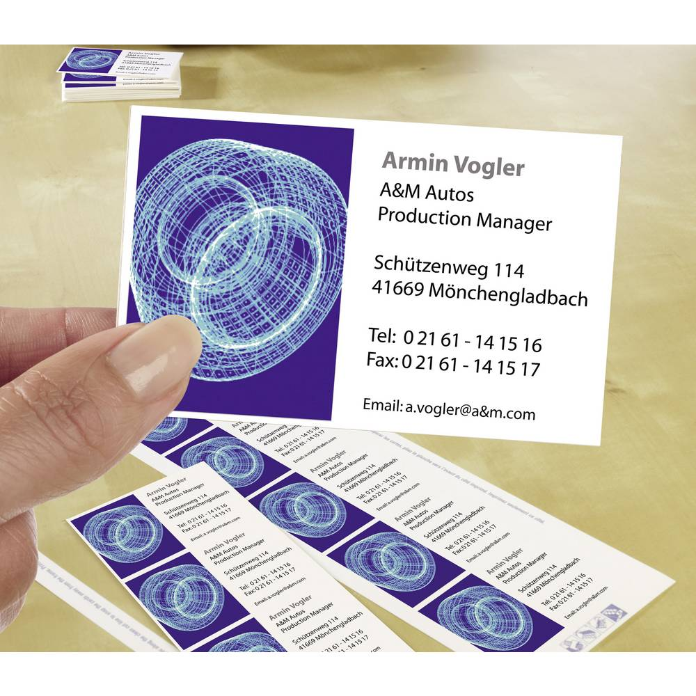 averyzweckform printable business cards microperforated