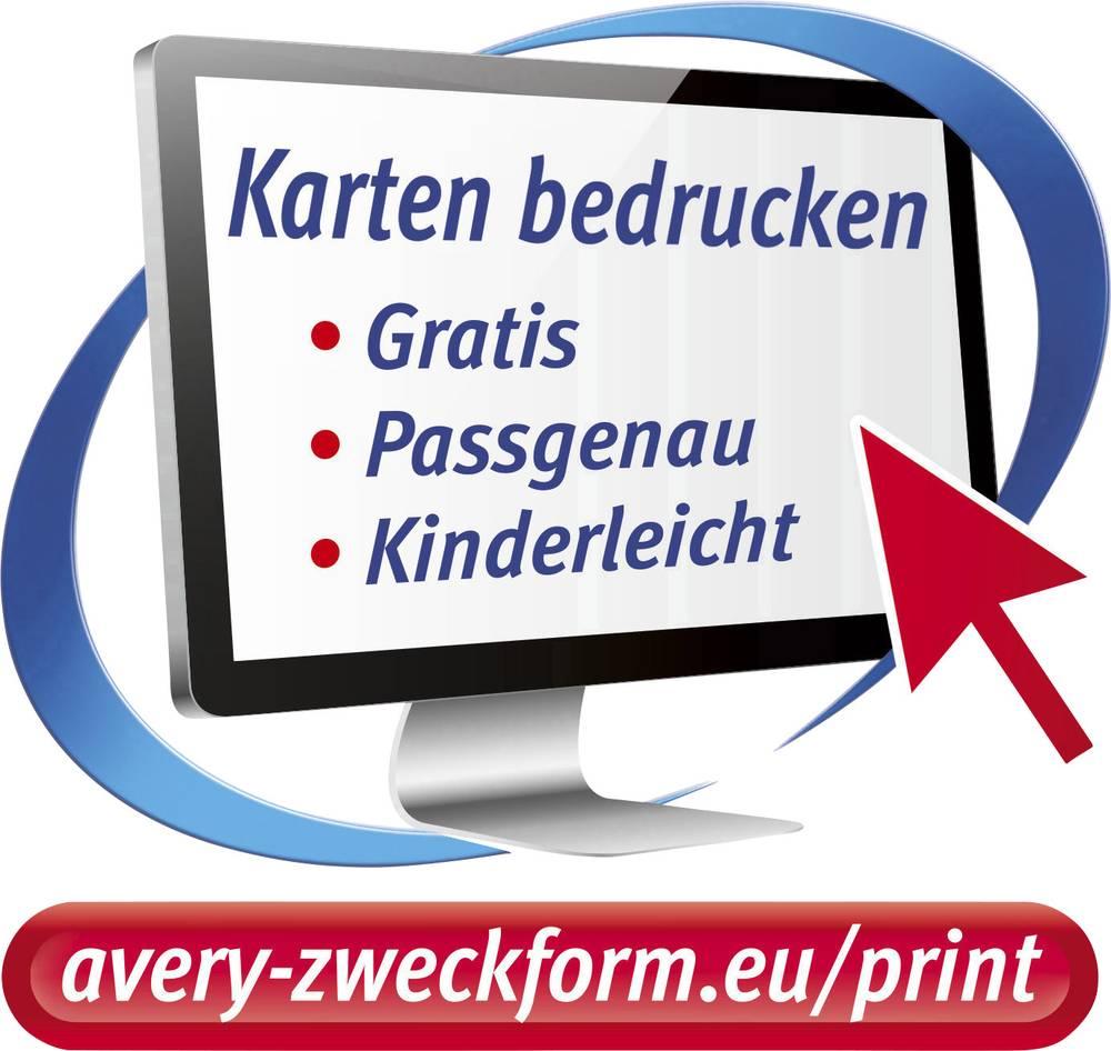 Avery Zweckform Printable Business Cards Smooth Edge C32011 10 85