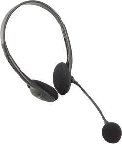 PC-headset On-ear LogiLink HS0002 3,5 mm teleplugg Svart