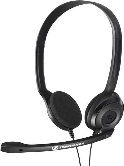 Image of PC headset 3.5 mm jack Corded, Stereo Sennheiser PC 3 Chat On-ear Black
