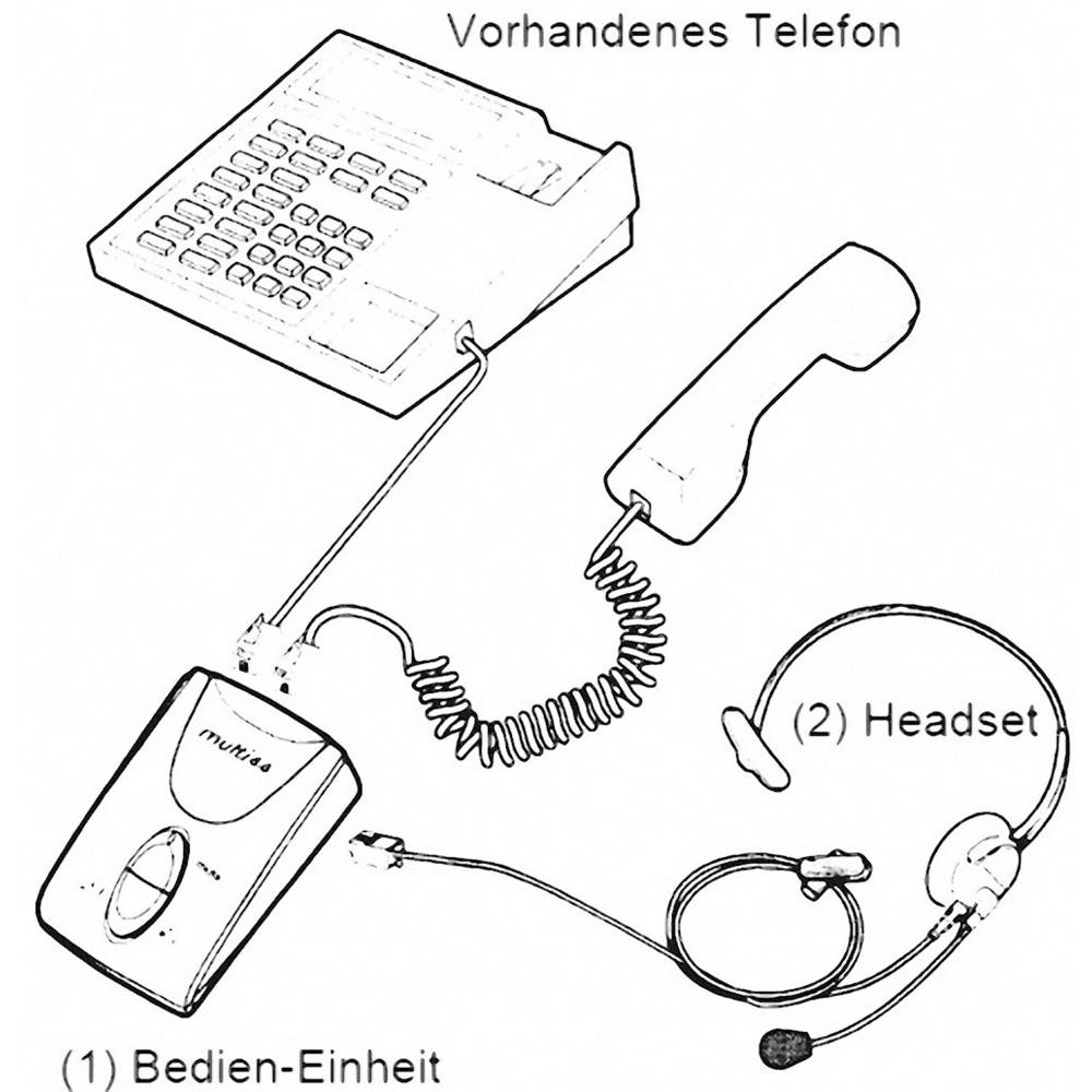 Phone headset RJ10 socket Corded, Mono Basetech KJ-97