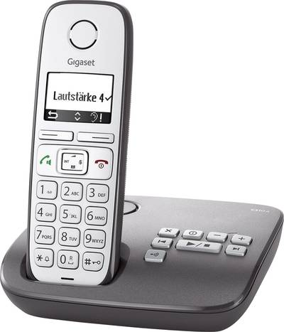 Image of Gigaset E310A Cordless Big Button Answerphone Backlit Silver, Anthracite