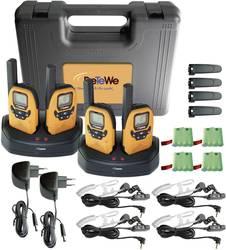 PMR-handradio DeTeWe Outdoor 8000 Quad Case Set 4 st