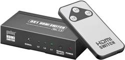 3 porte HDMI-switch med fjernbetjening, 3D-afspilning er mulig N/A Goobay AVS 43-3 2011 Sort