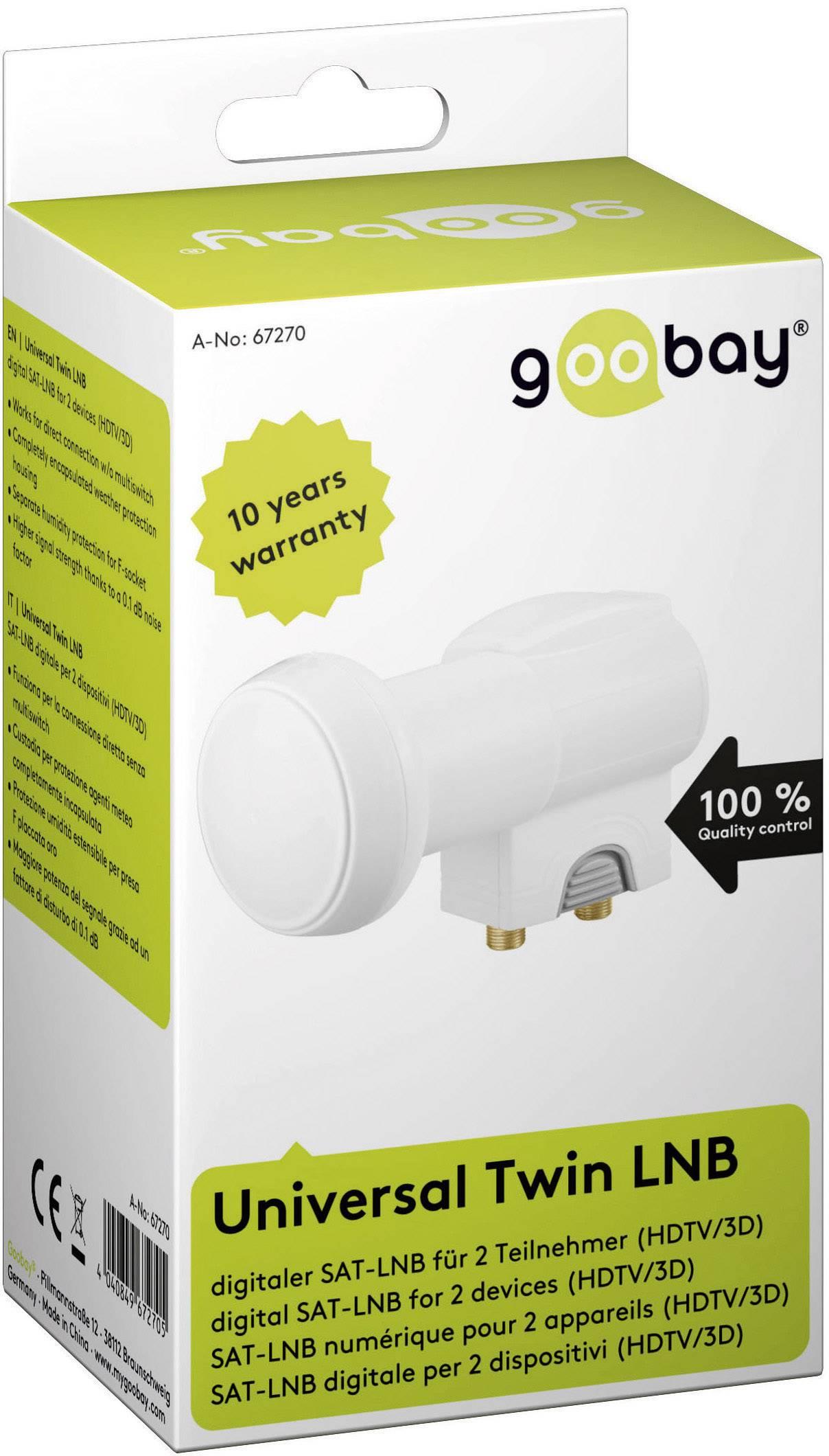 Goobay Universal Octo LNB digitaler SAT-LNB f/ür 8 Teilnehmer HDTV//3D