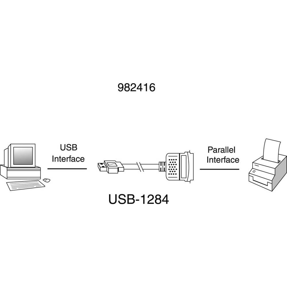 Manhattan USB 1.1 Cable [1x USB 1.1 connector A - 1x Centronics plug] 1.8 m  Grey