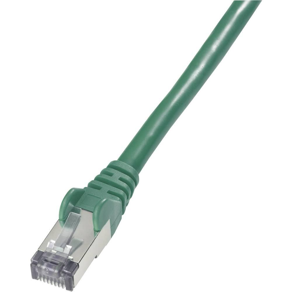 PATCHKABEL CAT.6 S/FTP zelen 1M zavoj Goobay