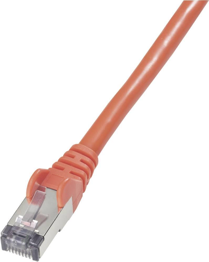 RJ45 mrežni kabel CAT 6 S/FTP [1x RJ45 utikač - 1x RJ45 utikač] 10 m crveni nezapaljivi, zaštićeni Goobay