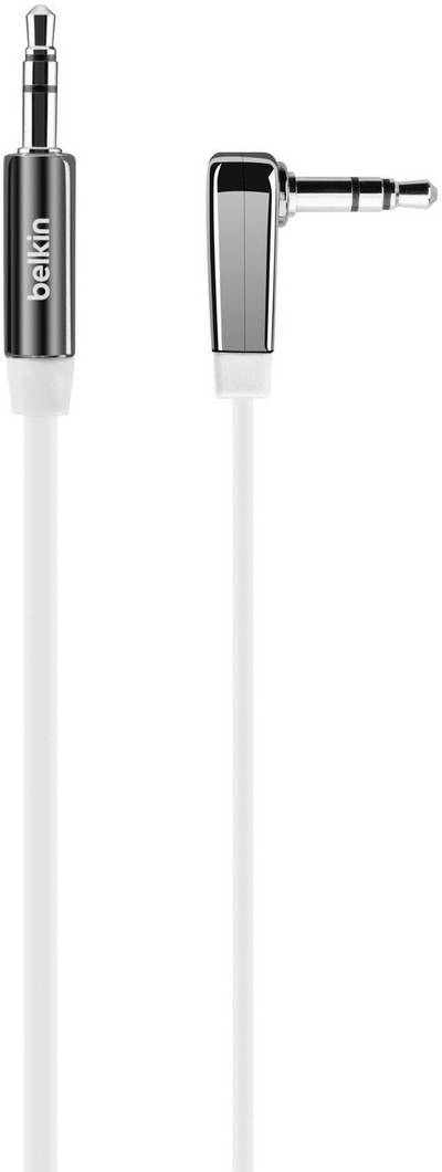 Compare cheap offers & prices of Belkin Mixit 3.5mm Flat Right Angle Aux Cable 0.9m In White manufactured by Belkin