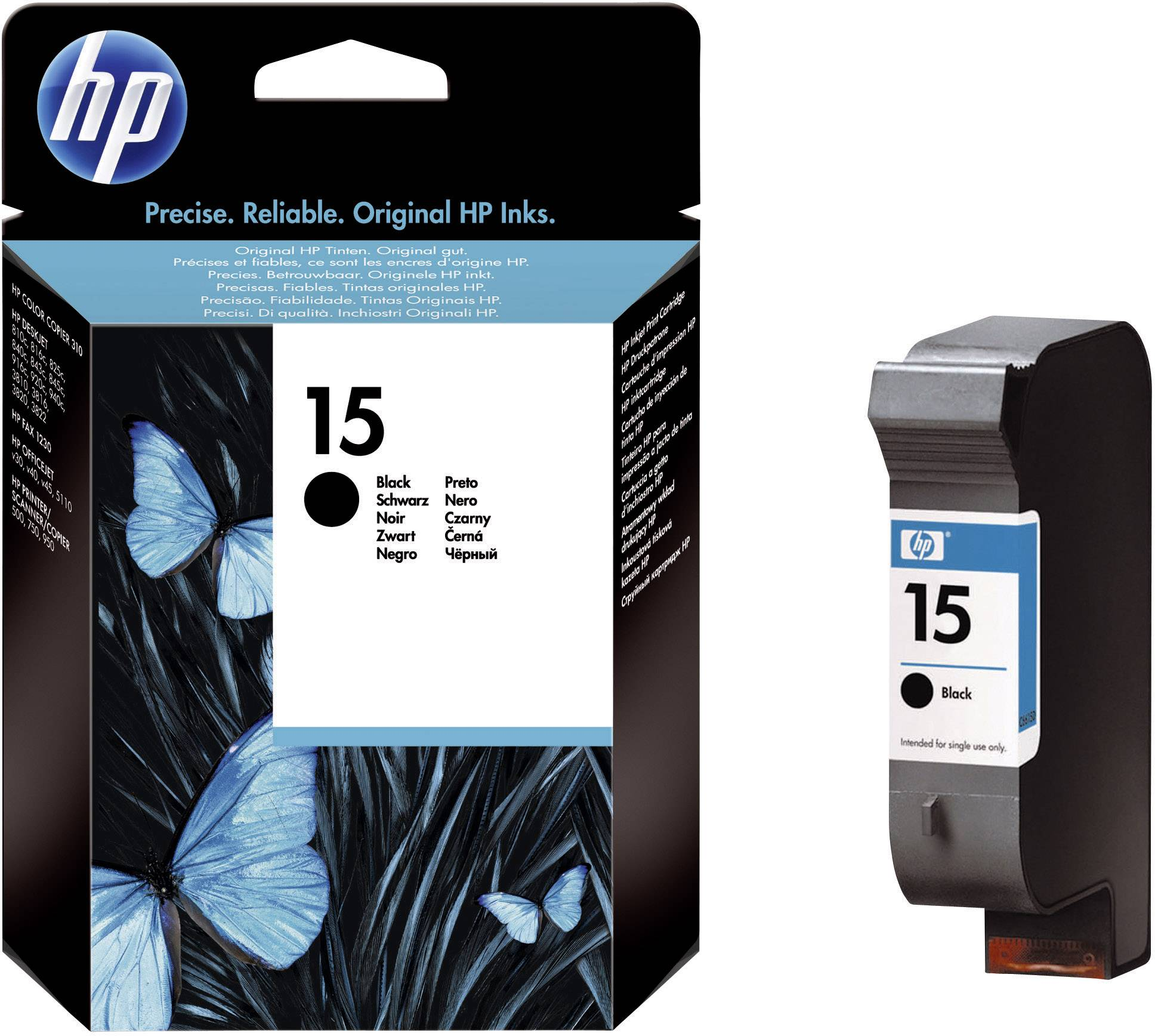 INK CARTRIDGE BLACK PER HP 15 Officejet V 45 CARTUCCIA