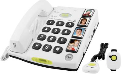 Image of Corded Big Button doro Secure 347 Visual call notification, Hands-free No display White